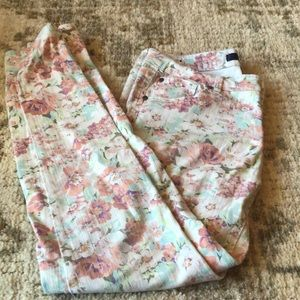 Tinsel floral jeans